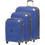 Qantas Longreach Hardside Suitcase Set of 3 Blue Q530A, Q530B, Q530C with FREE Go Travel Luggage Scale G2008