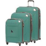 Qantas Longreach Hardside Suitcase Set of 3 Green Q530A, Q530B, Q530C with FREE Go Travel Luggage Scale G2008