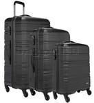 Antler Saturn Hardside Suitcase Set of 3 Black 41026, 41023, 41022 with FREE GO Travel Luggage Scale G2008