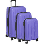 Antler Lightning Hardside Suitcase Set of 3 Purple 39109, 39023, 39026 with FREE Go Travel Luggage Scale G2008