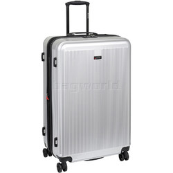 Qantas Winton Large 77cm Hardsided Suitcase Silver Q550A