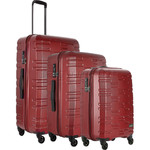 Antler Prism Embossed Hardside Suitcase Set of 3 Burgundy 40909, 40923, 40926 with FREE GO Travel Luggage Scale G2008
