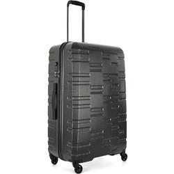 Antler Prism Embossed Large 76cm Hardside Suitcase Charcoal 40909