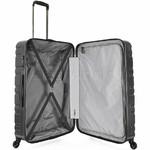 Antler Prism Embossed Large 76cm Hardside Suitcase Charcoal 40909 - 3