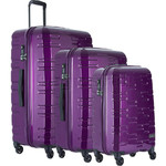 Antler Prism Hi-Shine Hardside Suitcase Set of 3 Purple 00109, 00123, 00126 with FREE GO Travel Luggage Scale G2008