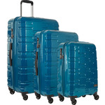 Antler Prism Hi-Shine Hardside Suitcase Set of 3 Teal 00109, 00123, 00126 with FREE GO Travel Luggage Scale G2008