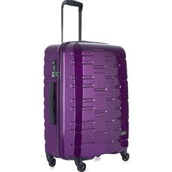 Antler Prism Hi-Shine Medium 66cm Hardside Suitcase Purple 00123