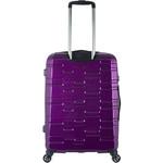 Antler Prism Hi-Shine Medium 66cm Hardside Suitcase Purple 00123 - 1