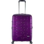 Antler Prism Hi-Shine Medium 66cm Hardside Suitcase Purple 00123 - 2