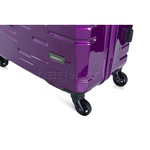 Antler Prism Hi-Shine Medium 66cm Hardside Suitcase Purple 00123 - 6