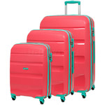 American Tourister Bon Air Hardside Suitcase Set of 3 Coral 62940, 62941, 62942 with FREE Samsonite Luggage Scale 34042
