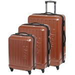 Jeep Explorer Hardside Suitcase Set of 3 Rust 7200C, 7200B, 7200A with FREE GO Travel Luggage Scale G2008