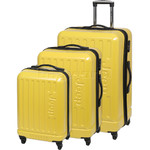 Jeep Explorer Hardside Suitcase Set of 3 Yellow 7200C, 7200B, 7200A with FREE GO Travel Luggage Scale G2008