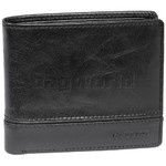 Cellini Men's Aston RFID Blocking Double Leather Wallet Black MH206