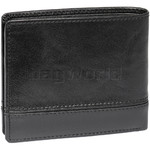 Cellini Men's Aston RFID Blocking Double Leather Wallet Black MH206 - 1