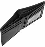 Cellini Men's Aston RFID Blocking Double Leather Wallet Black MH206 - 3