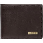 Vault Men's Kentucky RFID Blocking Slimline Leather Wallet Brown VM402