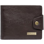 Vault Men's Kentucky RFID Blocking Leather Wallet with Top Flap and Tab Brown VM423