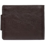 Vault Men's Kentucky RFID Blocking Top Flap & Tab Leather Wallet Brown VM423 - 1
