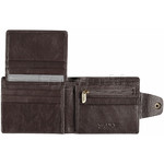 Vault Men's Kentucky RFID Blocking Top Flap & Tab Leather Wallet Brown VM423 - 3