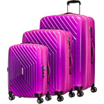 American Tourister Airforce 1 Hardside Suitcase Set of 3 Gradient Pink 74409, 74410, 74411 with FREE Samsonite Luggage Scale 34042