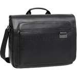 "Samsonite Savio Leather IV 15.6"" Laptop Messenger Bag Black 80445"