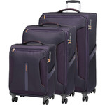 American Tourister Airliner Softside Suitcase Set of 3 Purple 79385, 79384, 79383 with FREE Samsonite Luggage Scale 34042