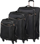 American Tourister Applite 2.0 Softside Suitcase Set of 3 Gold Trim 68052, 68053, 68054 with FREE Samsonite Luggage Scale 34042