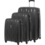 American Tourister Waverider Hardside Suitcase Set of 3 Black 70411, 70413, 70414 with FREE Samsonite Luggage Scale 34042