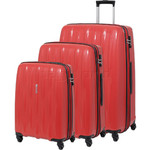 American Tourister Waverider Hardside Suitcase Set of 3 Phoenix Red 70411, 70413, 70414 with FREE Samsonite Luggage Scale 34042
