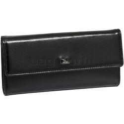Cellini Ladies' Atlanta Foldover Leather Wallet Black T1027