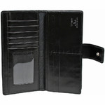 Cellini Ladies' Atlanta Long Leather Wallet Black T1029 - 2