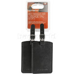 Samsonite Travel Accessories Set of 2 Rectangle Bag Tag Black 52972