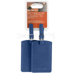 Samsonite Travel Accessories Set of 2 Rectangle Bag Tag Indigo Blue 52972