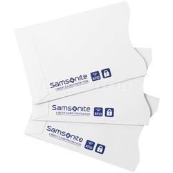 Samsonite RFID Blocking Pack of 3 Credit Card Sleeves White 77772