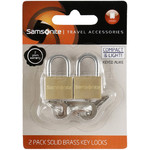 Samsonite Travel Accessories Set of 2 Brass Key Lock Brass 86158