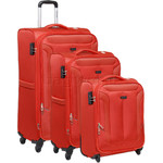 Qantas Gladstone Softside Suitcase Set of 3 Orange Q240A, Q240B, Q240C with FREE Go Travel Luggage Scale G2008
