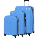 American Tourister Waverider Hardside Suitcase Set of 3 Pacific Blue 70411, 70413, 70414 with FREE Samsonite Luggage Scale 34042
