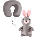 Samsonite Travel Accessories Travel Buddies Rabbit Travel Pillow Grey 87412