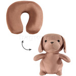 Samsonite Travel Accessories Travel Buddies Dog Travel Pillow Brown 87413