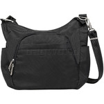 Travelon Classic RFID Blocking Anti-Theft Crossbody Bucket Bag Black 42757