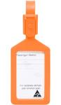 Airport Plastic Luggage Tag Orange 25568