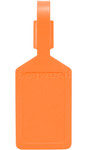 Airport Plastic Luggage Tag Orange 25568 - 1