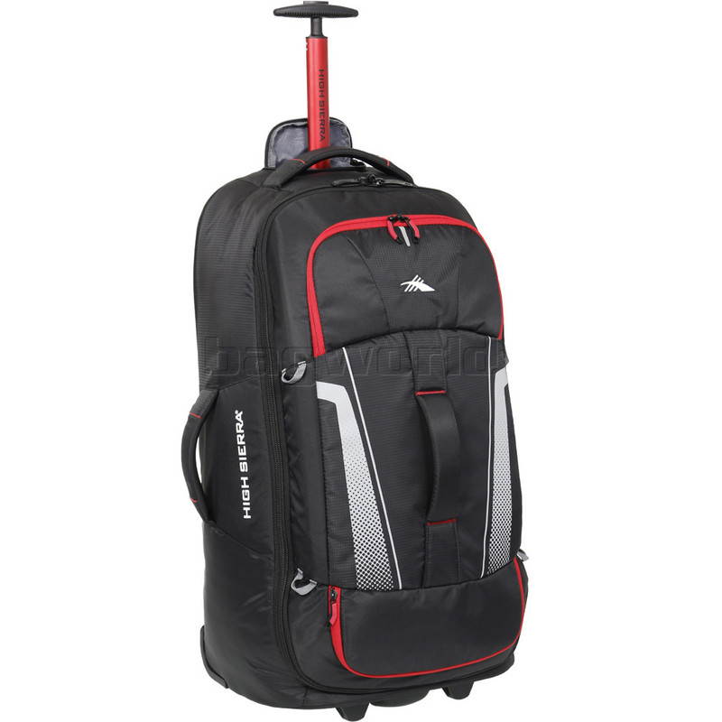 b711e049723 High Sierra Composite V3 Medium 73cm Wheeled Duffel with Backpack Straps  Black 87275