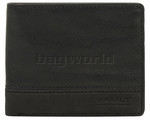 Vault Men's Nubuck Trim RFID Blocking Slimline Leather Wallet Black VM702