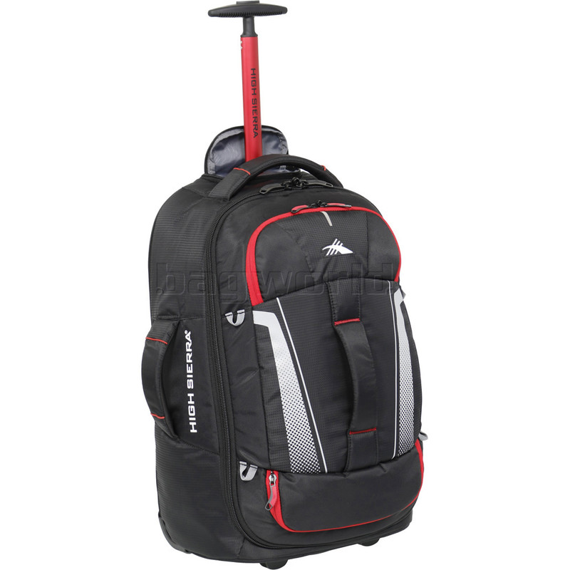 78b115ab2a High Sierra Composite V3 Small Cabin 56cm Wheeled Duffel with Backpack  Straps Black 87274