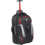 High Sierra Composite V3 Small/Cabin 56cm Wheeled Duffel with Backpack Straps Black 87274