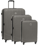 CAT Turbo Hardside Suitcase Set of 3 Grey 83087, 83088, 83089 with FREE GO Travel Luggage Scale G2006