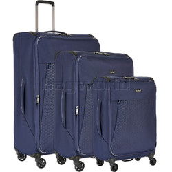 Antler Oxygen Softside Suitcase Set of 3 Blue 40826, 40816, 40815 with FREE GO Travel Luggage Scale G2006