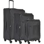 Antler Oxygen Softside Suitcase Set of 3 Grey 40826, 40816, 40815 with FREE GO Travel Luggage Scale G2006